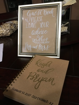 Guest Book & sign